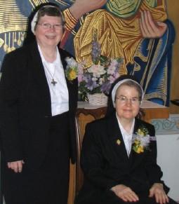Sister Joanne Lickvar and Sister Janet Decker